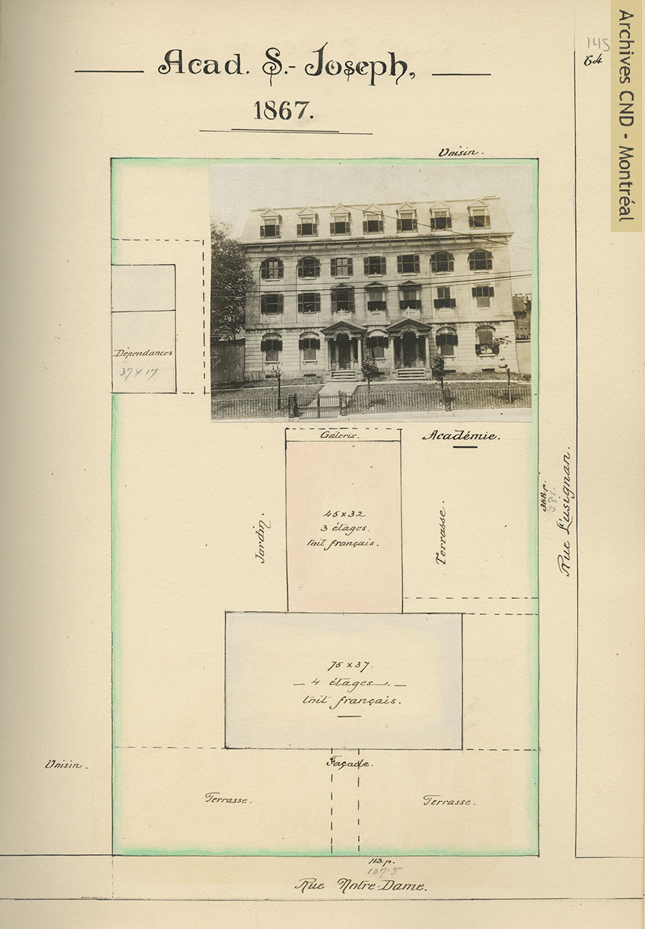 Plot plan of the Sisters of the Congregation