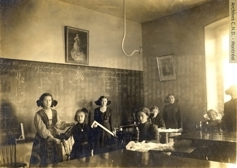 Sewing class at the convent