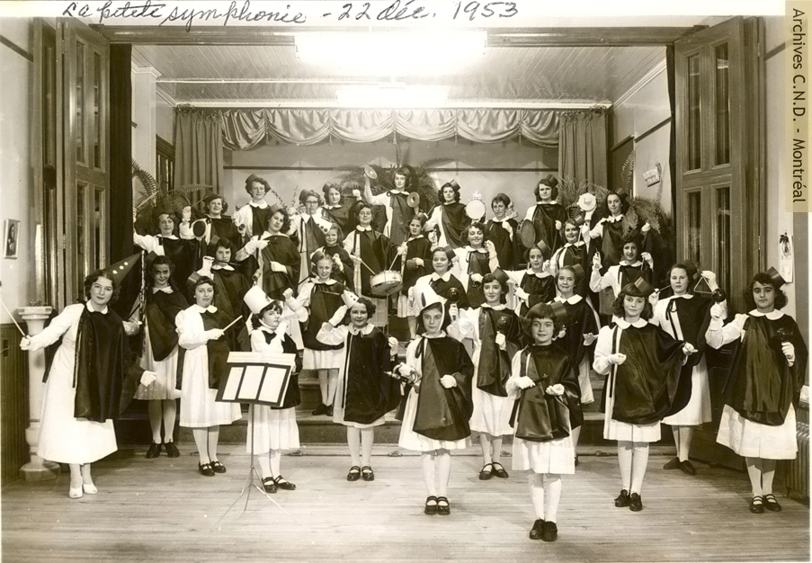 "Performance of ""La petite symphonie"" by the students at the convent"