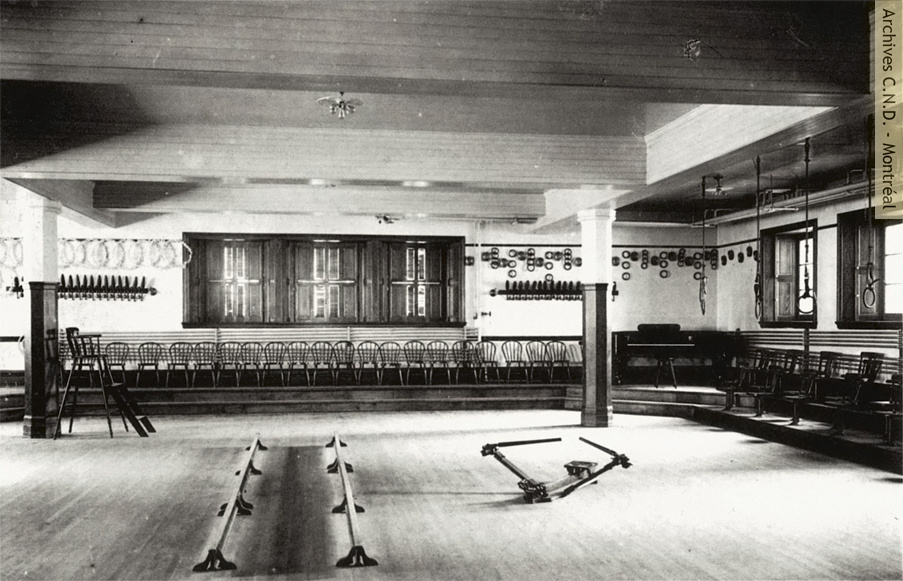Gymnasium at Villa Maria boarding school