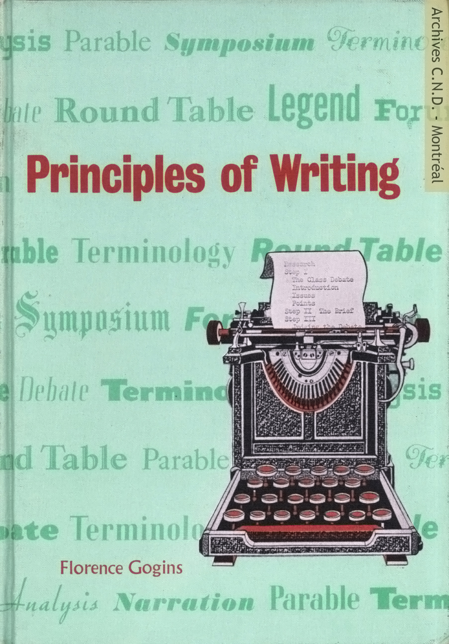 Página tapa - Principles of Writing - A textbook in composition based on paragraph structure
