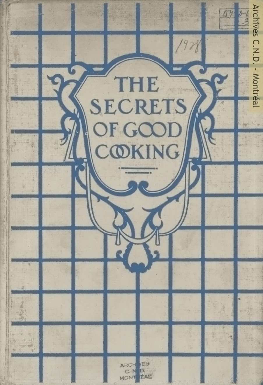 Page couverture - The secrets of good cooking