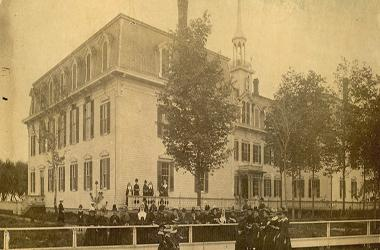Notre-Dame Convent / Maternity of the Blessed Virgin Mary Elementary School, institution fondée en 1860, Bourbonnais, Illinois, États-Unis