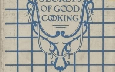 Cover page - The secrets of good cooking (料理の秘訣)