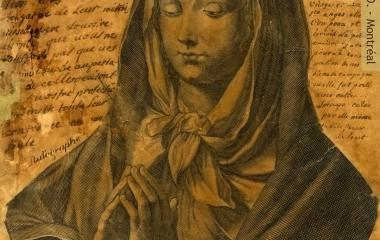 Jeanne Le Ber'''s prayer on a picture of the Virgin