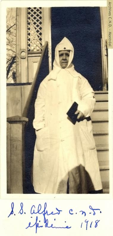 Sister Saint-Alfred (Délia Clément) during the Spanish Flu pandemic