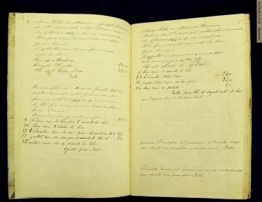 Pages taken from the record of accounts of the convent boarders